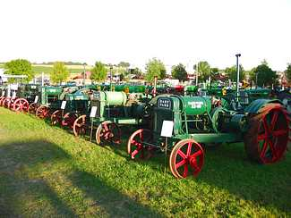 Nice row of Hart Parr tractors