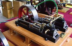 Model of stationary steam engine.